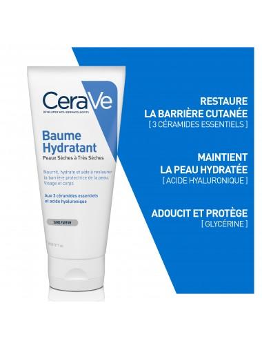 CeraVe Baume Hydratant visage et corps pour les peaux sèches à très sèches 177ml