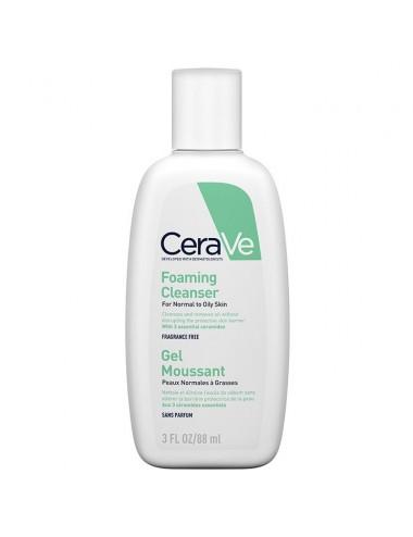 CeraVe Gel Moussant visage pour les peaux normales à grasses 88ml