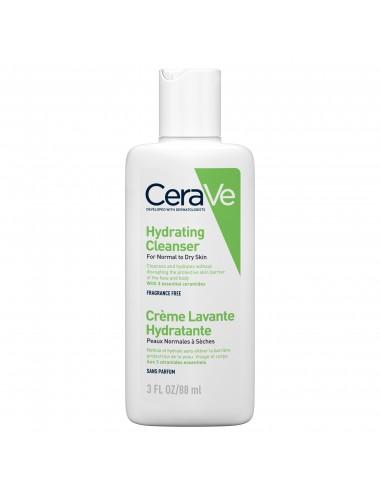 CeraVe Crème Lavante Hydratante visage et corps pour les peaux sèches à très sèches 88ml