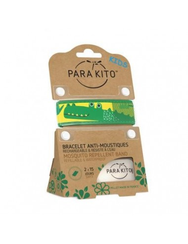 Parakito Bracelet Enfant Anti-moustiques Crocodile