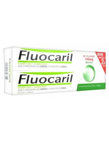 Fluocaril Dentifrice Bi-Fluoré 145mg Menthe 75ml lot de 2