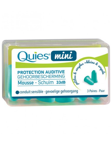 Quies Protections auditives enfants en mousse mini x6