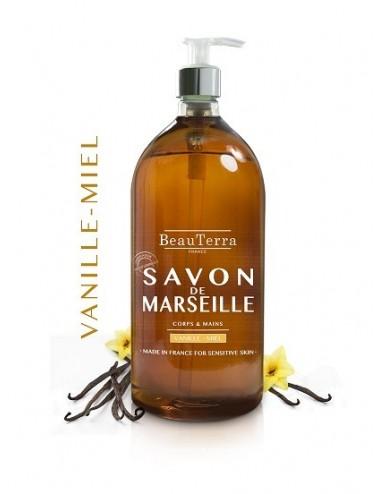Beau Terra savon de Marseille Vanille Miel 1L
