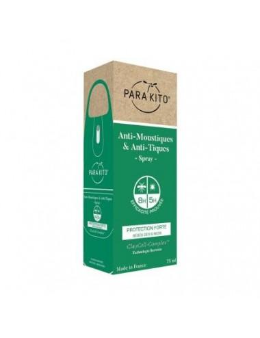 Parakito Anti-Moustiques & Anti-Tiques Spray Familles Protection Forte 75 ml