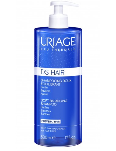 Uriage DS Hair - Shampooing Doux Équilibrant - Flacon 500ml