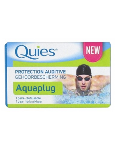 Quies protection auditive en silicone Aquaplug x2