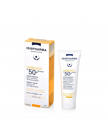 IsisPharma Uveblock Solaires Crème Minérale Invisible SPF50 40ml