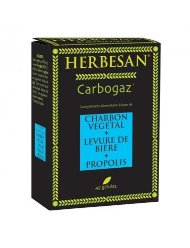 Herbesan Carbogaz Charbon Vegetal 45 Gélules