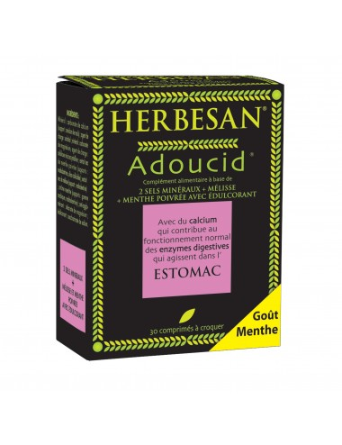 Herbesan Adoucid Menthe 30 Comprimés