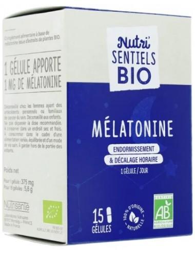 Nutrisanté Les Nutri Sentiels Bio Mélatonine 15 gélules