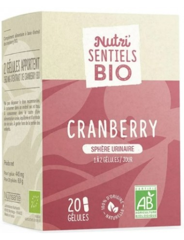 Nutrisanté Les Nutri Sentiels Bio Cranberry Sphère Urinaire 20 gélules