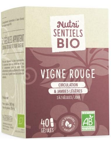 Nutrisanté Les Nutri Sentiels Bio Vigne Rouge Bio 40 gélules