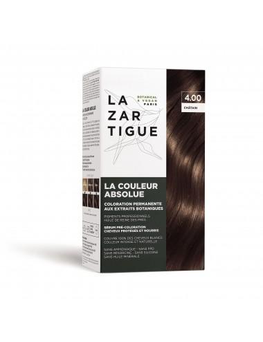 Lazartigue Coloration permanente 4.00 aux extraits botaniques La Couleur Absolue
