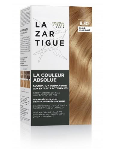 Lazartigue Coloration permanente 8.30 aux extraits botaniques La Couleur Absolue
