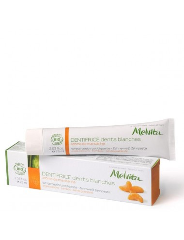 Melvita dentifrice dents blanches 75ml