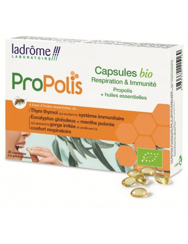 La Drome Propolis Capsules Bio Respiration 30 Caps