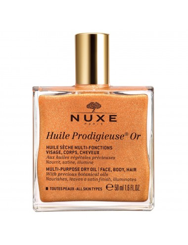 Nuxe Huile prodigieuse or - huile sèche multi-fonctions visage, corps, cheveux 50ml