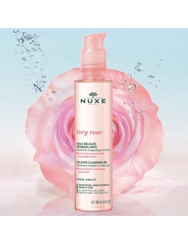 Nuxe Very Rose Huile Délicate Démaquillante 150ml