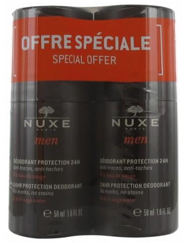Nuxe Men Déodorant Protection 24H 50ml -Lot de 2