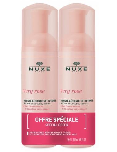 Nuxe Very Rose Mousse Aérienne Nettoyante 150ml -Lot de 2