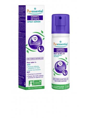 Puressentiel Sommeil Detente Spray Aérien Sommeil Détente aux 12 Huiles Essentielles 75ml
