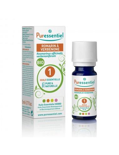 Puressentiel Huiles Essentielles de Romarin à verbénone Bio 5ml