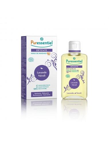 Puressentiel Sommeil Detente Huile de massage Bio aux 6 huiles essentielles 100ml