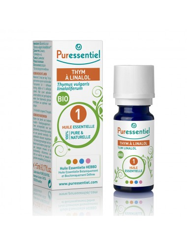 Puressentiel Huiles Essentielles de Thym à linalol Bio 5ml