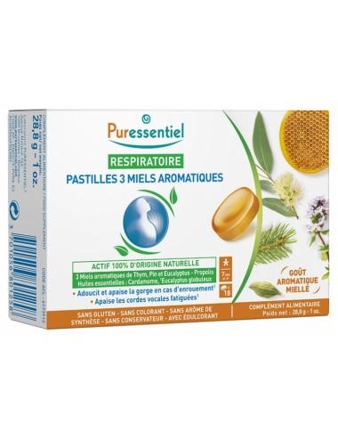Puressentiel Respiratoire Pastilles Respiratoire aux 3 miels aromatiques 18 pastilles