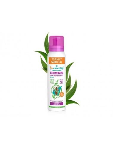 Puressentiel Antipoux Spray Répulsif Poux Format familial 200ml