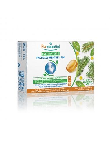 Puressentiel Respiratoire Pastilles Respiratoire Gorge Menthe-Pin 18 pastilles