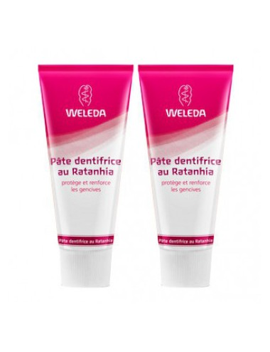 Weleda Duo Pâte dentifrice au Ratanhia 150ml
