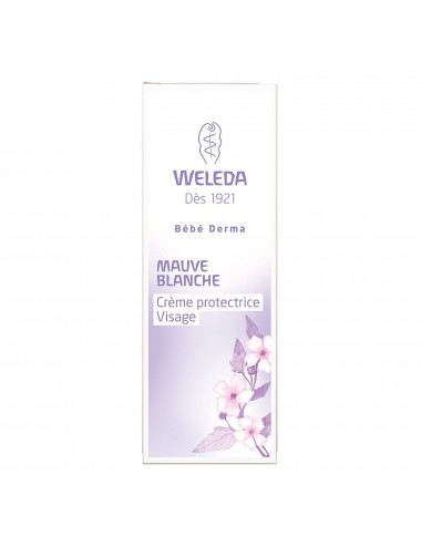 Weleda Crème protectrice visage Mauve blanche 30ml