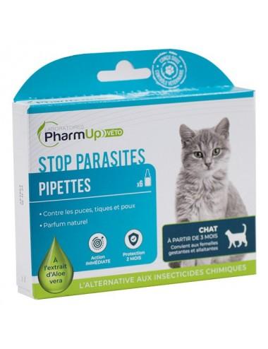 PharmUp Véto Stop Parasites Chat à partir de 3 mois 6 pipettes 1ml