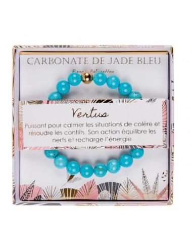 Coffret Bracelet Carbonate de Jade Bleu