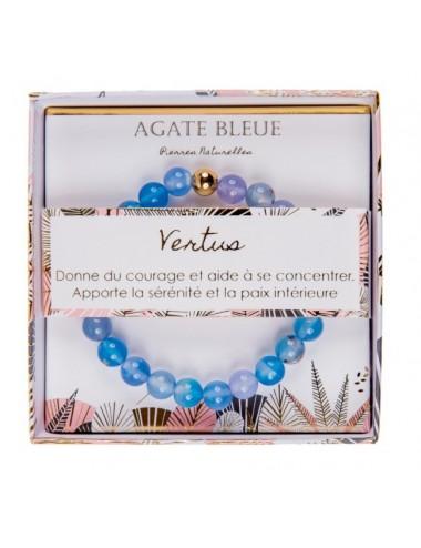 Coffret Bracelet Agate Bleu