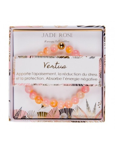 Coffret Bracelet Jade Rose