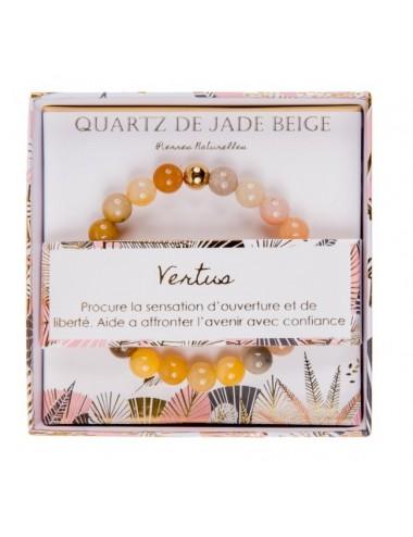 Coffret Bracelet Quartz de Jade Beige