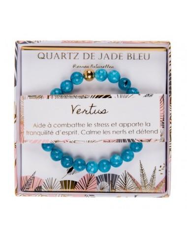 Coffret Bracelet Quartz de Jade Bleu