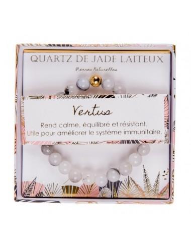 Coffret Bracelet Quartz de Jade Laiteux