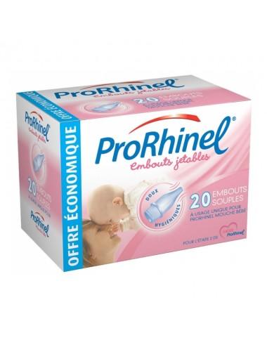 ProRhinel 20 Embouts Jetables Souples pour Mouche Bébé
