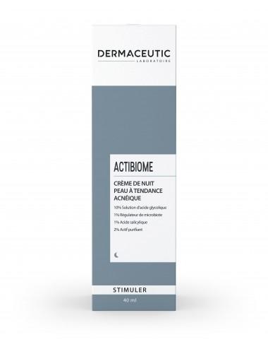 Dermaceutic Actibiome Crème de Nuit Peau à Tendance Acnéique 40ml