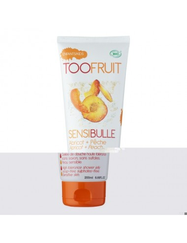 Toofruit Gelée de douche Sensibulle pêche abricot 200ml