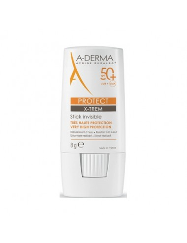 Aderma Protect X-Trem Stick invisible SPF 50+ 8g