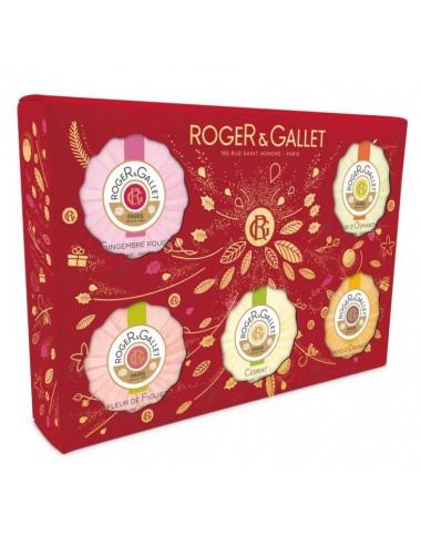 Roger et Gallet Coffret Noël Découverte 5 Savons 5x50g
